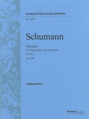 Concerto en la Mineur, Op. 129 SCHUMANN Partition laflutedepan
