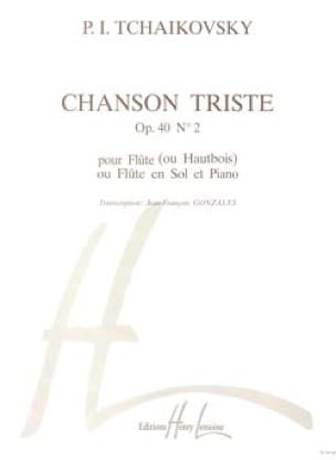 Chanson triste op. 40 n° 2 - Flûte hautbois piano - laflutedepan.com