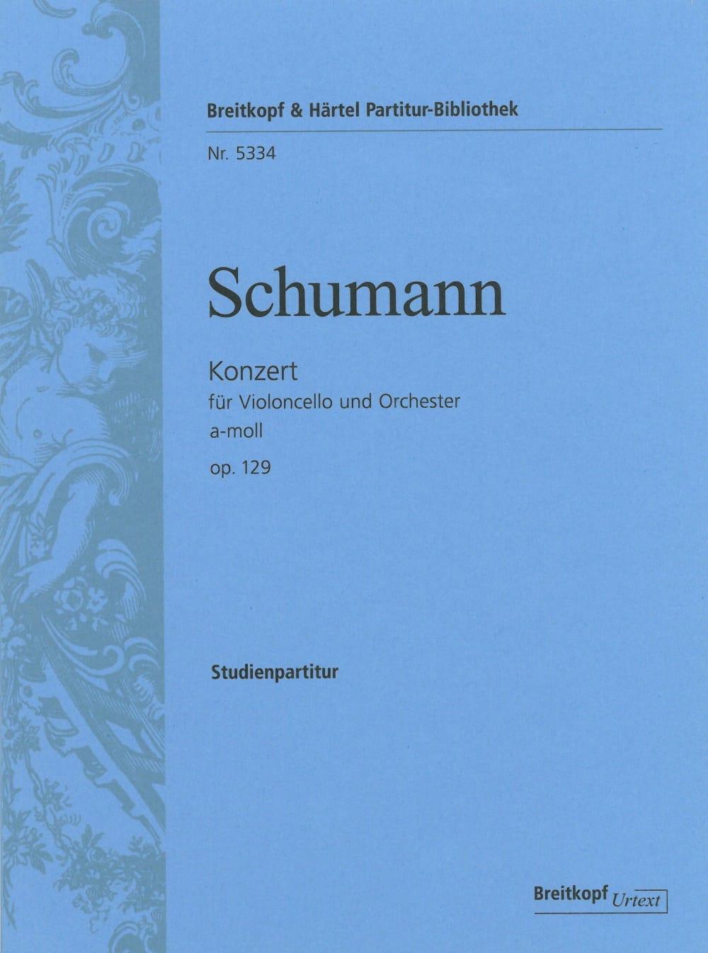 Concerto en la Mineur, Op. 129 - SCHUMANN - laflutedepan.com