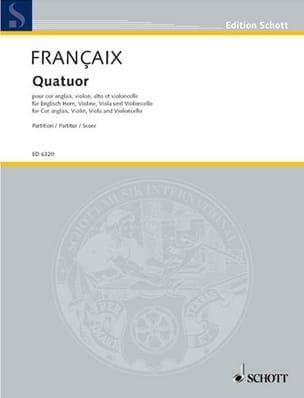 Quatuor 1970 - cor anglais, cordes - Score FRANÇAIX laflutedepan