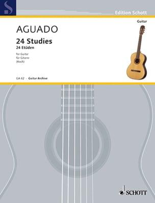 24 Etüden Dionisio Aguado Partition Guitare - laflutedepan