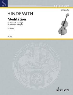 Meditation - Violoncelle et Orgue HINDEMITH Partition laflutedepan