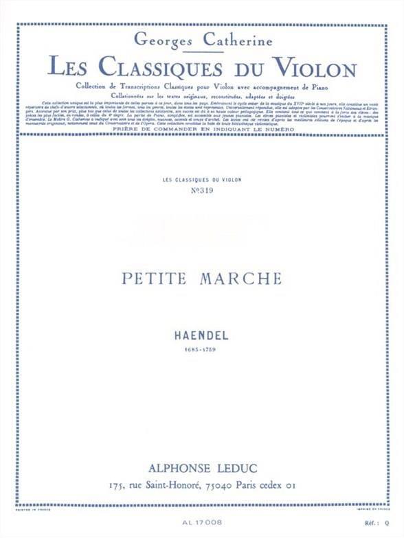 Petite marche - Violon - HAENDEL - Partition - laflutedepan.com