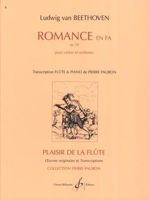 Romance en Fa op. 50 - Flûte piano BEETHOVEN Partition laflutedepan