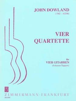 4 Quartette -4 Gitarren DOWLAND Partition Guitare - laflutedepan