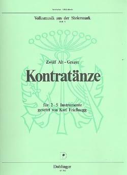 Heft 3 : 12 Alt-Grazer Kontratänze -2-5 Instrumente laflutedepan