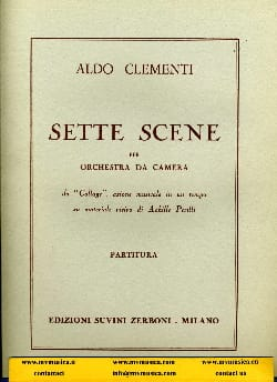 Sette Scene Aldo Clementi Partition Grand format - laflutedepan