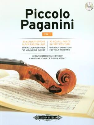 Piccolo Paganini Vol. 1 - Violon et piano Partition laflutedepan