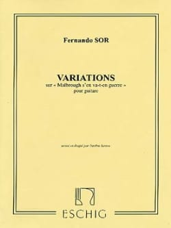 Introduction et Variations Sur Malbrough Op. 28 SOR laflutedepan