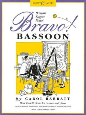 Bravo ! Bassoon Carol Barratt Partition Basson - laflutedepan