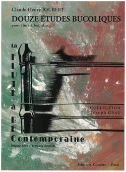 12 Etudes bucoliques Claude-Henry Joubert Partition laflutedepan