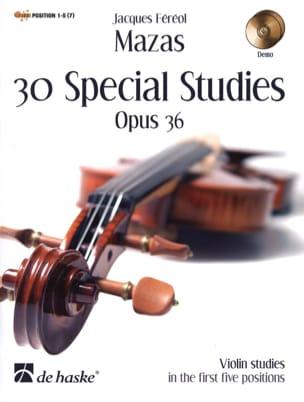 30 Etudes Spéciales Op.36 MAZAS Partition Violon - laflutedepan