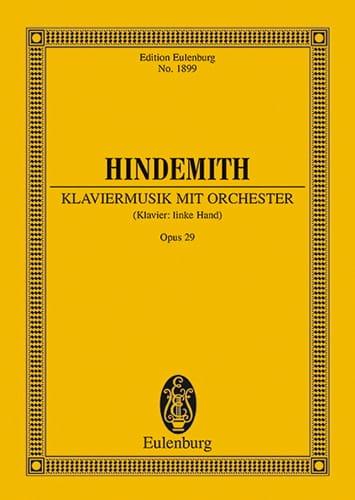 Klaviermusik mit Orchester op. 29 - Partitur - laflutedepan.com