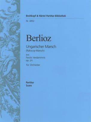 Marche hongroise op. 24 - Conducteur BERLIOZ Partition laflutedepan