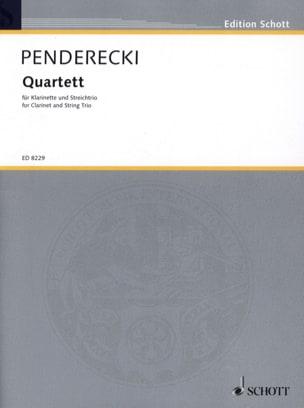Quatuor 1993 PENDERECKI Partition Quatuors - laflutedepan