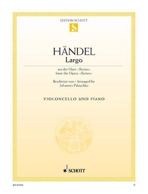 Largo - Violoncelle HAENDEL Partition Violoncelle - laflutedepan