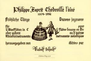 Fröhliche Tänze Philippe Esprit (L'Aîné) Chédeville laflutedepan