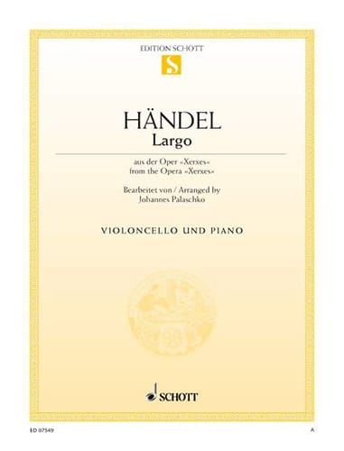 Largo - Violoncelle - HAENDEL - Partition - laflutedepan.com