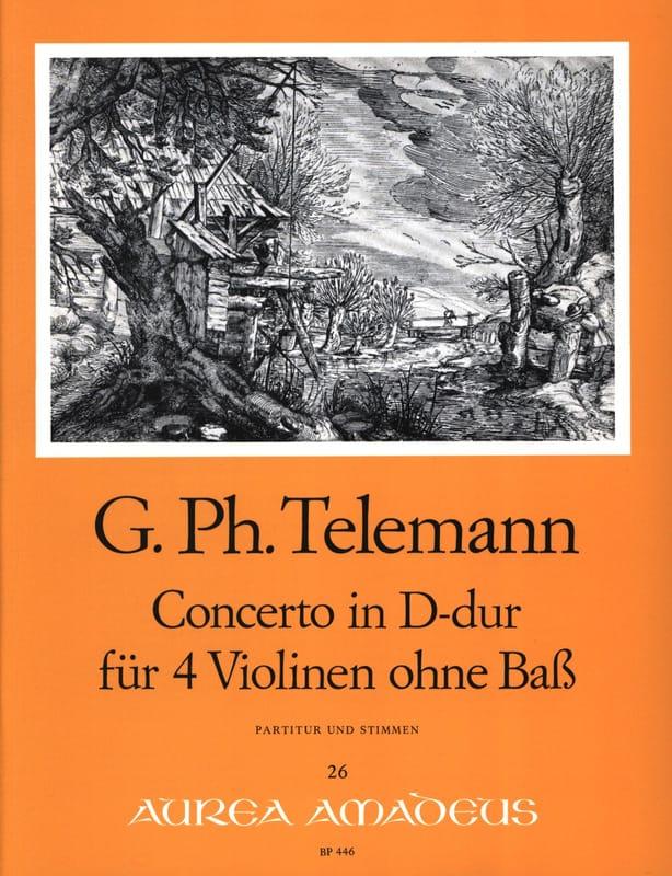 Konzert D-Dur Für 4 Violinen Twv 40:202 - TELEMANN - laflutedepan.com