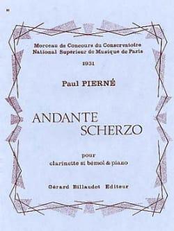 Andante Scherzo Paul Pierné Partition Clarinette - laflutedepan