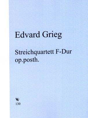 Streichquartett F-Dur op. posth. - Stimmen GRIEG laflutedepan