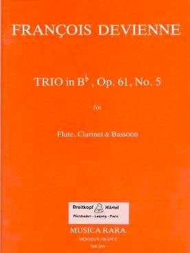 Trio in Bb op. 61 n° 5 -Flute clarinet bassoon - Parts laflutedepan