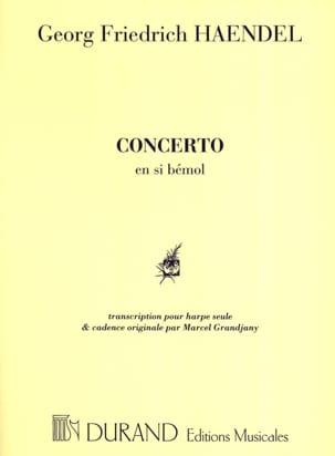 Concerto en Si bémol Harpe Grandjany HAENDEL Partition laflutedepan