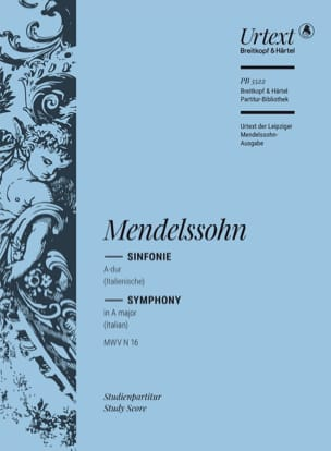 Symphonie n° 4, op. 90 MENDELSSOHN Partition laflutedepan
