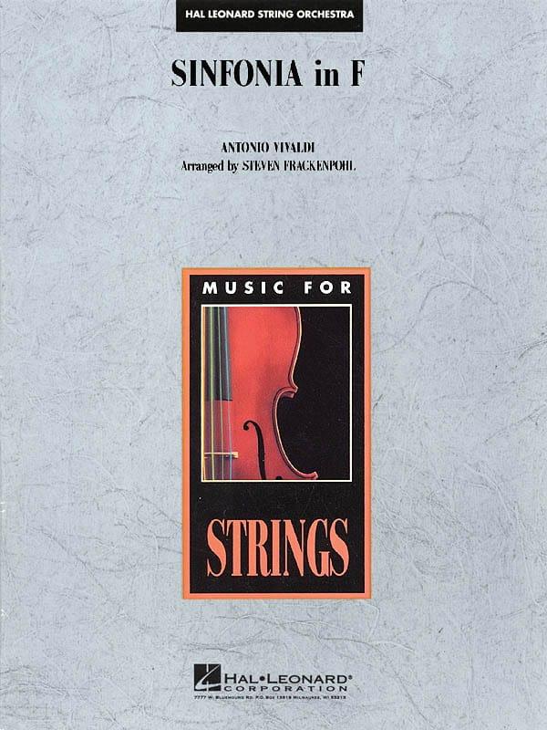 Sinfonia in F - VIVALDI - Partition - ENSEMBLES - laflutedepan.com