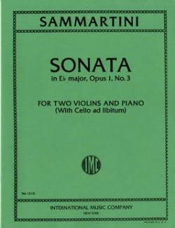 Sonata E-flat major op. 1 n° 3 -2 violins piano laflutedepan
