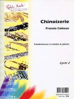 Chinoiserie Francis Coiteux Partition Contrebasse - laflutedepan