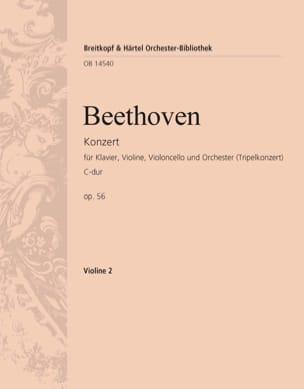 Konzert C-Dur op. 56 Triple-Konzert - violon 2 BEETHOVEN laflutedepan