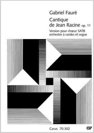 Cantique de Jean Racine Op. 11 - Version avec Orch. à Cordes laflutedepan