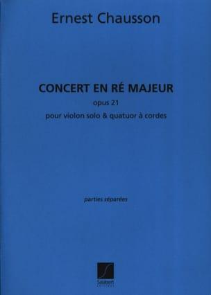 Concert en ré Majeur opus 21 CHAUSSON Partition laflutedepan