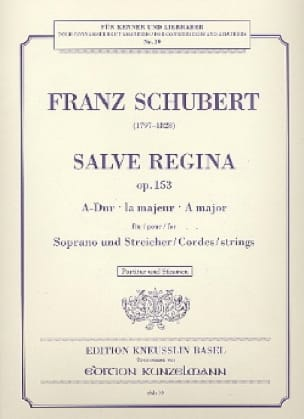 Salve Regina op. 153 A-Dur -Partitur + Stimmen - laflutedepan.com