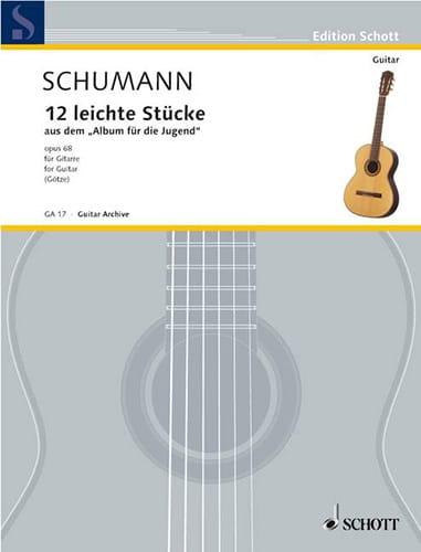 12 Ausgewählte Stücke -Gitarre - SCHUMANN - laflutedepan.com