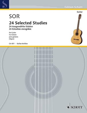 24 Selected Studies - Guitare SOR Partition Guitare - laflutedepan