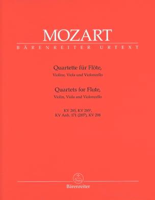 Quatuors pour flûte -Parties instrumentales MOZART laflutedepan