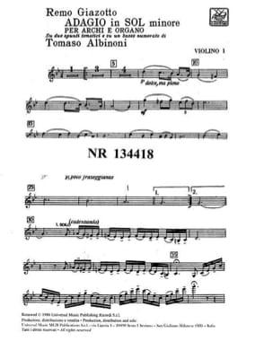 Adagio in sol minore - Matériel laflutedepan