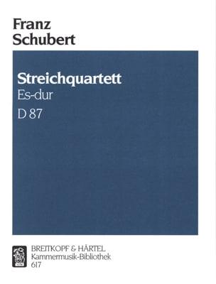 Streichquartett Es-Dur D. 87 op. posth. 125 Nr. 1 -Stimmen laflutedepan