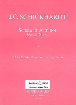 Sonata A minor op. 22 n° 6 -2 Treble recorders Oboe BC laflutedepan