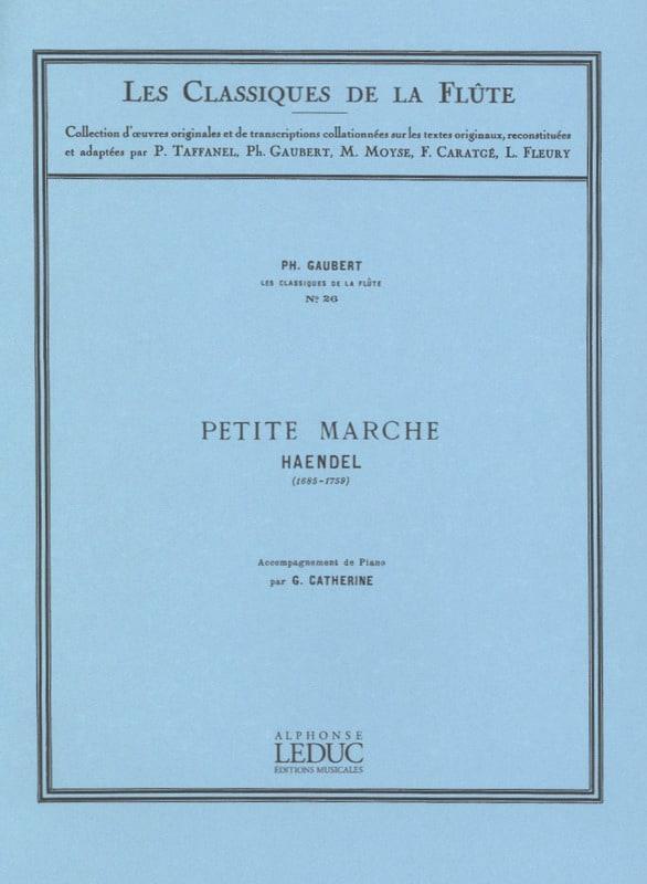 Petite marche - Flûte - HAENDEL - Partition - laflutedepan.com