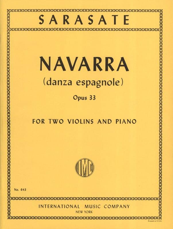 Navarra op. 33 -2 Violins piano - SARASATE - laflutedepan.com