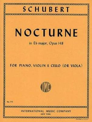 Nocturne Eb major, op. 148 D. 899 SCHUBERT Partition laflutedepan