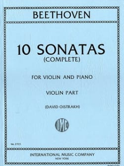 10 Sonates Oistrach - Violon et piano BEETHOVEN Partition laflutedepan