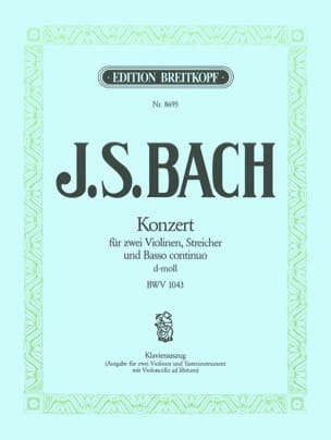 Konzert d-moll BWV 1043 -2 Violinen Klavier BACH laflutedepan