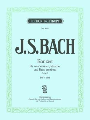 BACH - Konzert d-mol BWV 1043 - 2 Violinen Klavier - Partition - di-arezzo.com