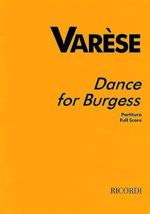 Dance for Burgess - Partitur Edgard Varèse Partition laflutedepan