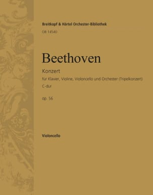 Konzert C-Dur op. 56 Triple-Konzert - violoncelle laflutedepan