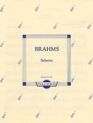 Scherzo op. posth. - Alto BRAHMS Partition Alto - laflutedepan